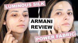 GIORGIO ARMANI FOUNDATION REVIEW + DEMO | Luminous Silk vs Power Fabric | Ysis Lorenna