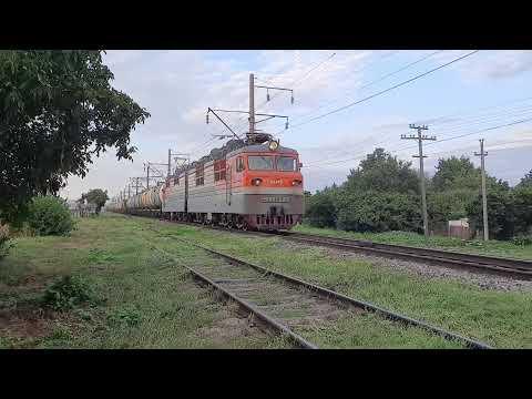 Экстренное торможение грузового поезда.