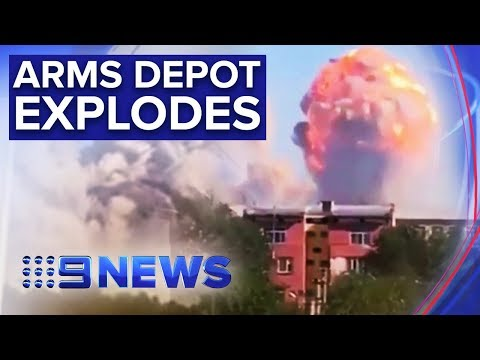 Dozens injured and thousands evacuated as Kazakhstan arms dump explodes | Nine News Australia