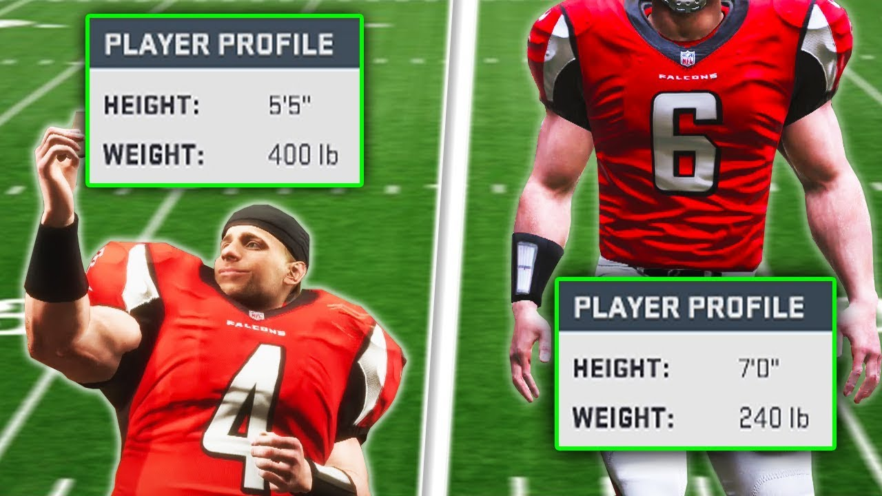 Does Height And Weight Matter For Your Quarterback Madden 19 Experiment Youtube