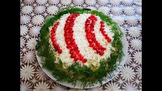 Салат НОВОГОДНИЙ ШАР праздничный салат рецепт Салат на НОВОГОДНИЙ стол Салат на ПРАЗДНИК