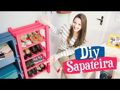 DIY - SAPATEIRA DE MADEIRA / Móveis do Meu Quarto PARTE 2 thumbnail