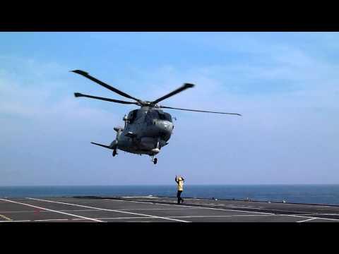 Merlin of 814 Naval Air Squadron, HMS OCEAN