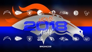Denver Broncos 2018 NFL Schedule is Easier