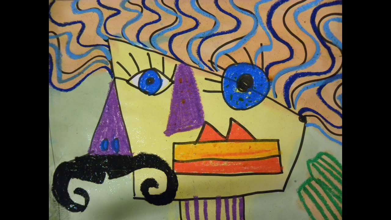 Kids Draw Picasso Portraits Young