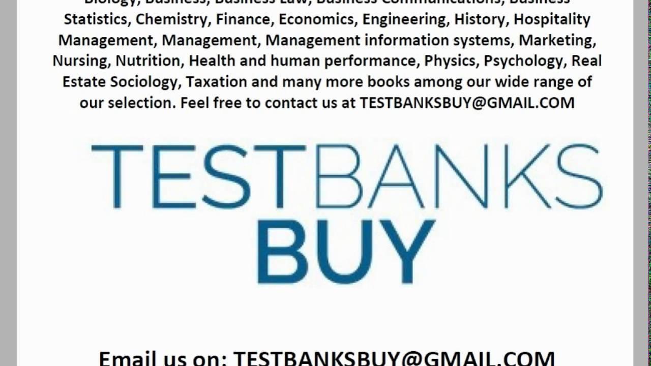 Buy Test Banks, Buy Cheap Test banks - YouTube