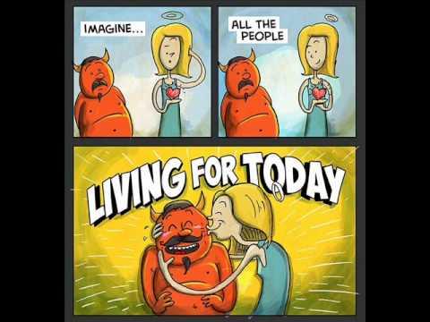 John Lennon - Imagine (lyrics with cartoon)