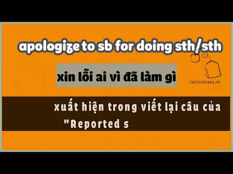 [Tiếng Anh THCS, THPT] Ngữ pháp – apologize to sb for [not] doing sth/sth
