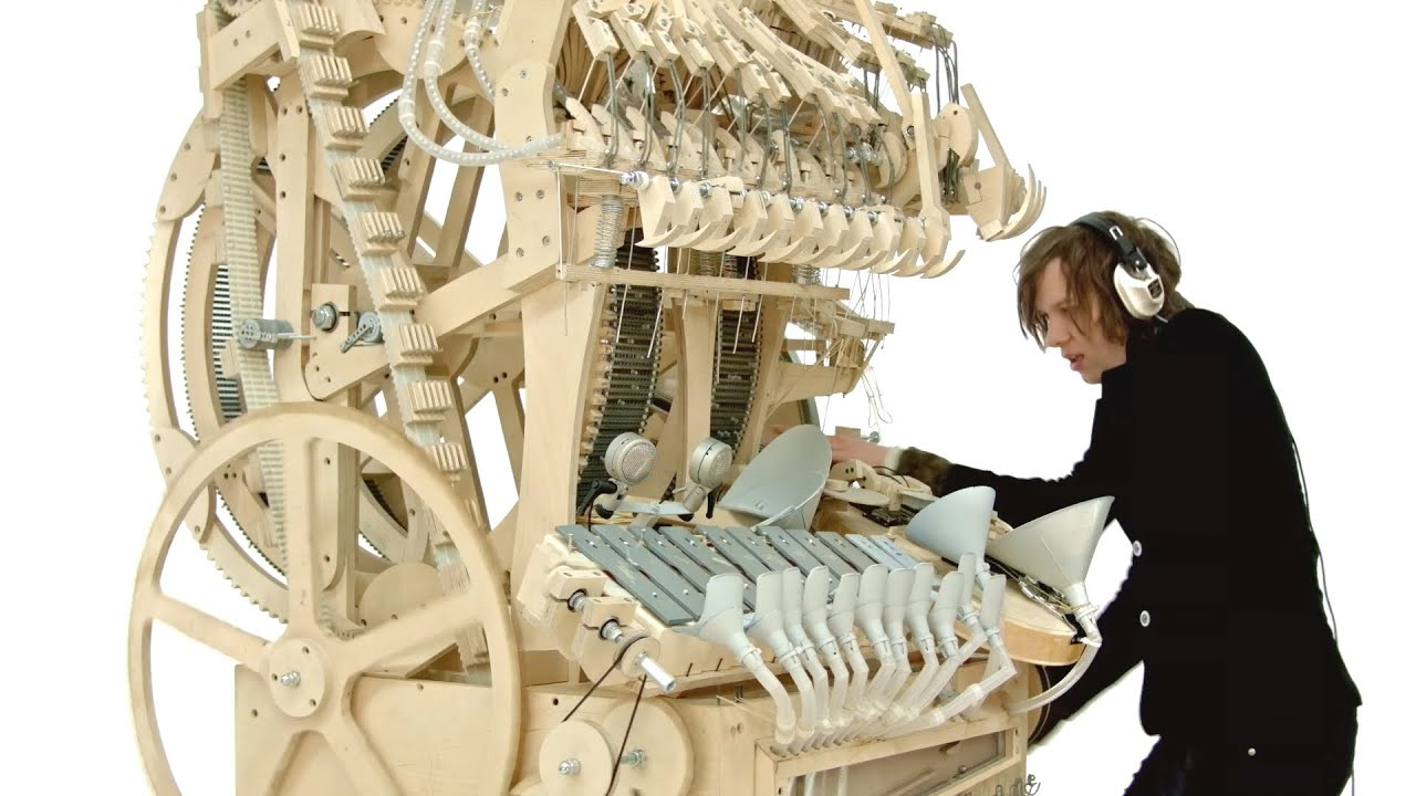 wintergatan marble machine music instrument using 2000 marbles youtube