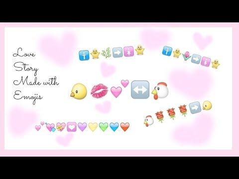 Love Story Made of Emojis