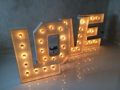 Объемные буквы своими руками с подсветкой