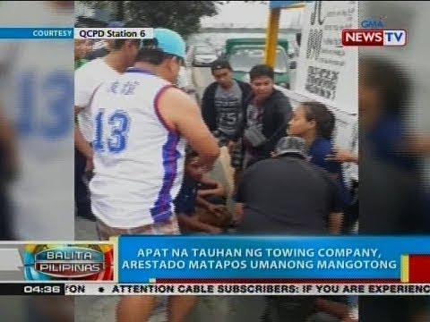 BP: Apat na tauhan ng towing company, arestado matapos umanong mangotong