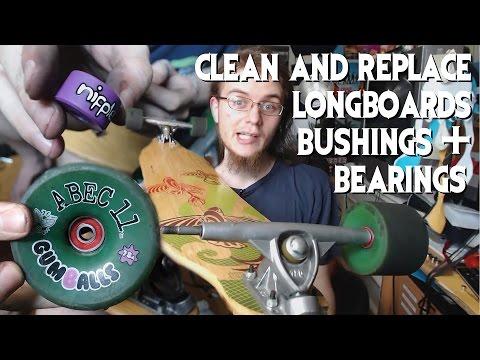 How To Clean Longboards & Replace Bushings/Bearings