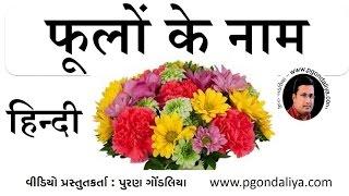 फूलों के नाम  Flowers name in Hindi   Learn Hindi by Puran Gondaliya