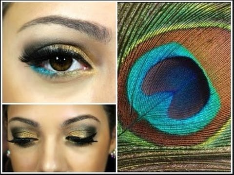 peacock makeup and costume tutorial youtube. Black Bedroom Furniture Sets. Home Design Ideas