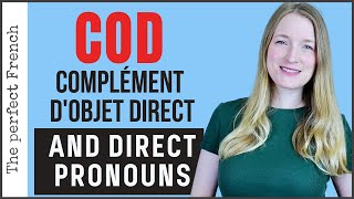COD Complément d'objet direct - DOP Direct object pronoun | French grammar for beginners