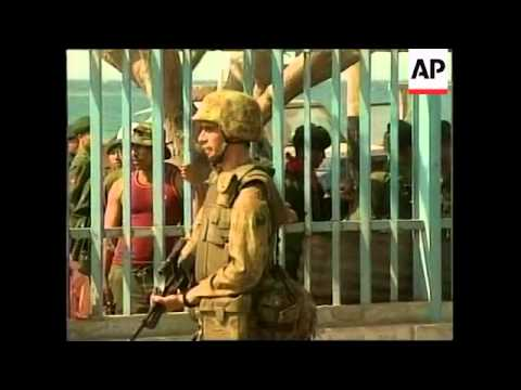 EAST TIMOR: INDONESIAN TROOPS PREPARE TO LEAVE (2)