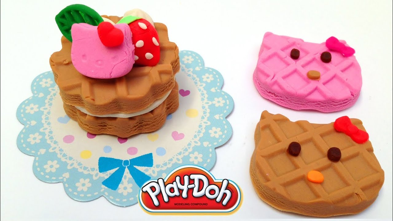 Toy Hello Kitty Watch : Play doh hello kitty how to make playdough sanrio playdoh