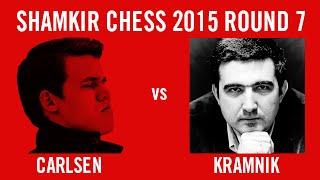 Shamkir Chess 2015 Round 7 Carlsen vs Kramnik
