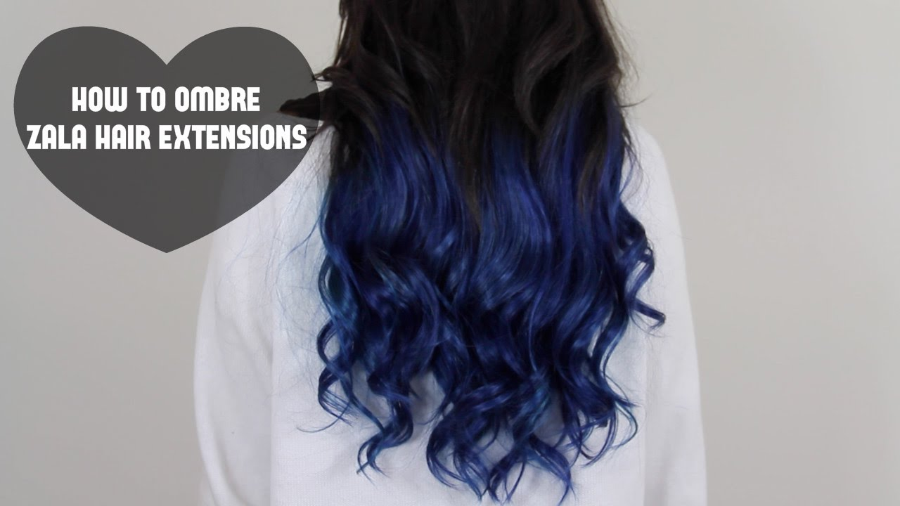 How To Ombre Zala Hair Extensions Youtube