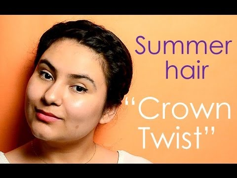 Easy Hairstyle For Indian Summer Crown Twist Delhi Fashion Blogger