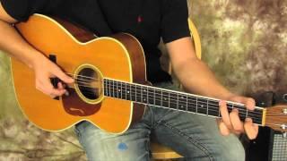 Paul Simon Inspired Acoustic Guitar Finger Picking Pattern for Easy Beginner