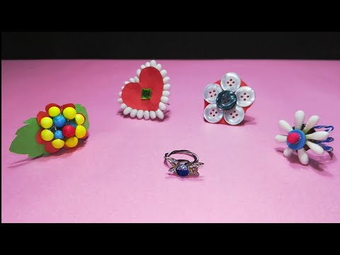 5 Awesome DIY finger rings using waste material   waste of best   360 DIY