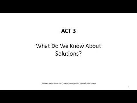 Unpacking Poverty: Concentrated Neighborhood Poverty: Act 3: Solutions