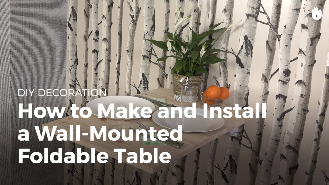 How To Make And Install A Wall Mounted Folding Table Diy Projects Residential Electrical Wiring Diagram 12x24 Youtube Premium
