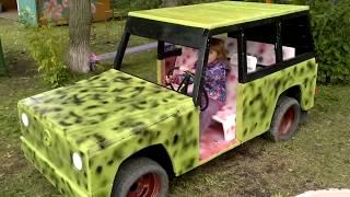 машина на педалях видео