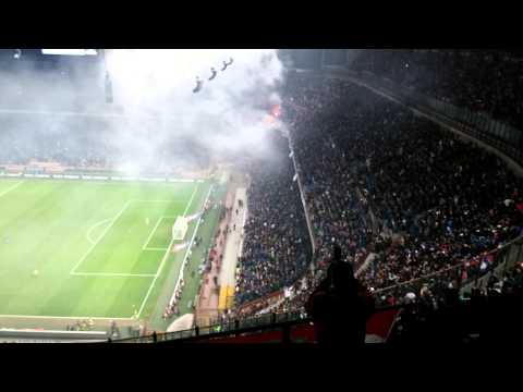 Italija - Hrvatska, Milano 16.11. - Bakljada