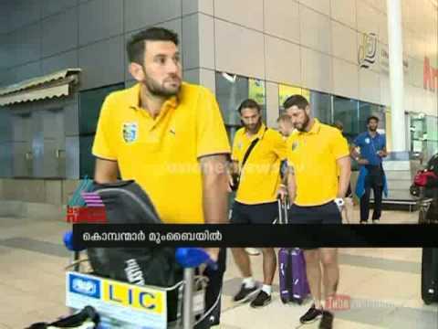 Kerala blasters team arrived in Mumbai :ISL