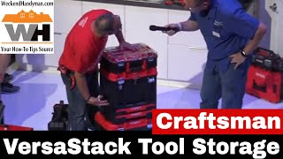 #Craftsman VersaStack Wheeled Tool Storage Kit with Radio and Charger  Weekend Handyman