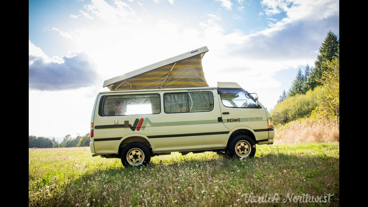 Camping Waschbecken Reimo Sale Review 1990 Toyota Hiace Reimo 4wd Pop Top Camper Van By Vanlife Northwest