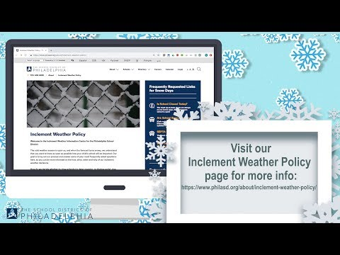 Inclement Weather Policy | School District of Philadelphia
