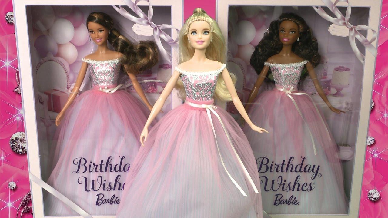 2017 Birthday Wishes Barbie Dolls From Mattel