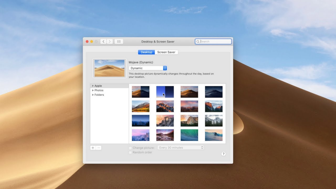 macOS Mojave New Dynamic Wallpaper Released!