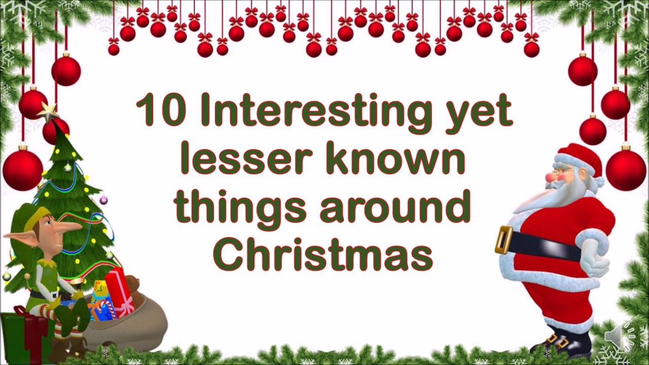 10 Amazing Facts about Christmas | Interesting Facts - YouTube