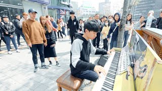 A Street Piano Boy Playing Flower Dance So Beautifully
