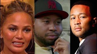 DJ Akademiks Warns John Legend about Chrissy Teigen Sending him Dm