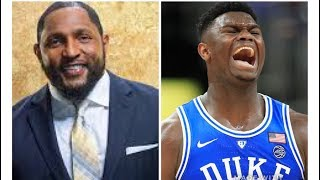 WOW!!!   Ray Lewis Meets ZION WILLIAMSON !!!