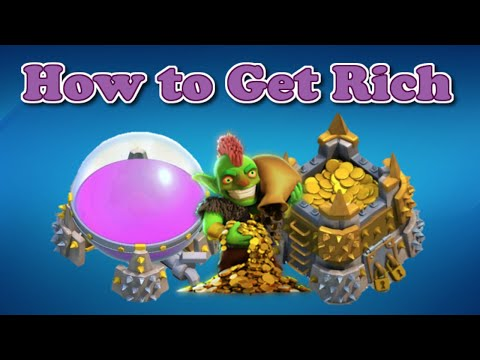 How to Get Rich as a Beginner/Noob in Clash of Clans | How to Farm Fast!