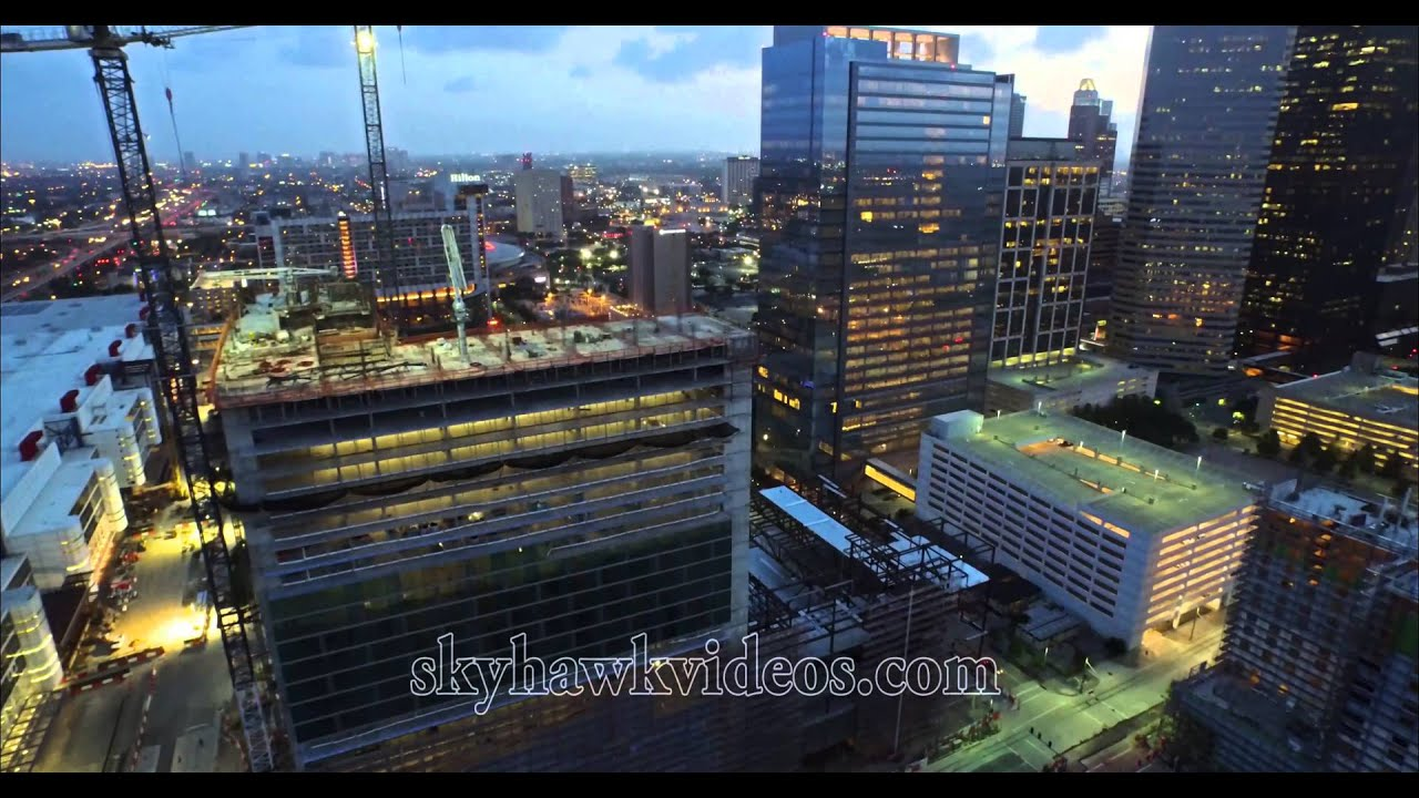New Marriott Marquis Houston Construction Twilight July 6
