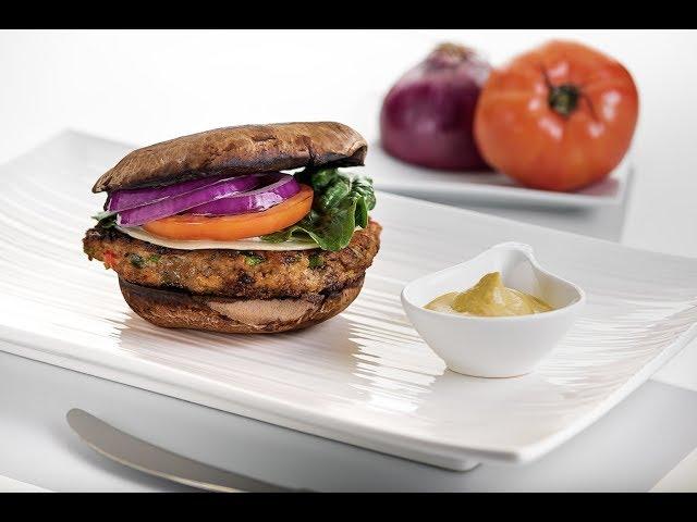 Hambuerger de Pavo al Portobello - Chef Mora