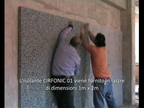 Posa in opera isolante acustico per pareti CIRFONIC 01