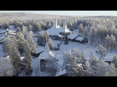 Santa Claus Village: winter arrives in Lapland Finland - Arctic Circle Father Christmas Rovaniemi