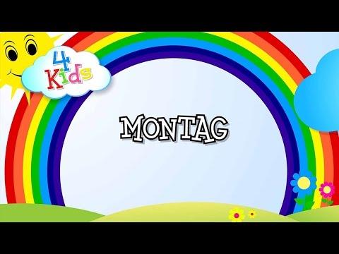 Wochentage lernen für Kinder - Tage von Montag bis Sonntag (deutsch) Lernvideo
