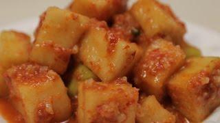 Настоящая корейская кухня: КАКТУГИ 깍두기 Kkakdugi: Korean redish kimchi recipe