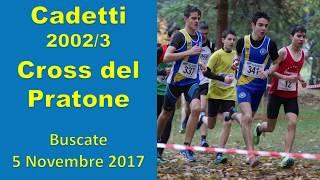 Buscate  2000m Cadetti 2002 Cross del Pratone  5 Novembre 2017