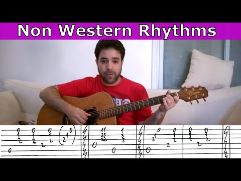 6 Latin, Caribbean, Russian & Arabic Guitar Rhythms - Fingerstyle Lesson Tutorial w/ TAB